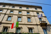 Beautiful building in Milan — Stock Photo