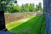 Ditch of the Sforza Castle, Milan, Italy — Stock Photo