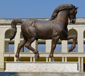 Horse monument in MIlan — Stock Photo