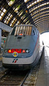 Italian train at the Milan central staion — Stock Photo