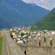 Part of Bellinzona castle Montelbello, UNESCO world heritage in Bellinzona, Switzerland — Stock Photo