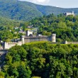View of Bellinzona castle Montelbello, UNESCO world heritage in Bellinzona, Switzerland — Stok fotoğraf