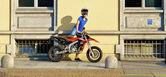Girl on the bike — Stock Photo