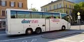 Buss i staden — Stockfoto