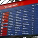 Schedule table of the railway station Zurich HB, Switzerland — Stock Photo #13455451