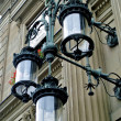 Lamps at the railway station Zurich HB, Switzerland — Stock Photo #13455437