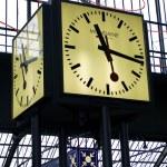 Clock at the railway station Zurich HB, Switzerland — Stock Photo #13455446