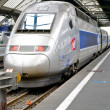 High speed train of the SNCF, railway company of France — Stok fotoğraf
