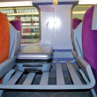 Royalty-Free Stock Photo: Luggage place in a train of the SNCF, railway company of France
