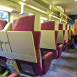 Seats in a train of the SNCF, railway company of Francr — Stock Photo