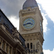 Clock tower of the station of Gare de Lyon, Paris, France - Zdjęcie stockowe