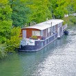 Boat over the Seine — Stock Photo #13455775