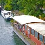 Boat over the Seine — Stock Photo #13455832