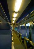 Seats in the train of SBB, Swiss railway company — Stock Photo