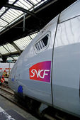 High speed train of the SNCF, railway company of France — Stock Photo