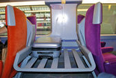 Luggage place in a train of the SNCF, railway company of France — Stock Photo