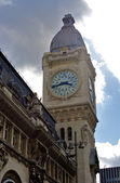Clock tower of the station of Gare de Lyon, Paris, France — Stock Photo