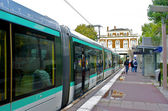 Tramway staion in Paris, France — Stock Photo