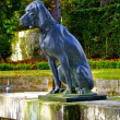 Monument of a dog in the Parc de Saint-Cloud, Paris, France - Stock Photo