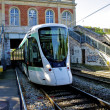 Tramway T2 in Paris, France - Stock Photo