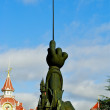 Monument of Mickey Mouse hand with a magic stick — Stock Photo #13509086