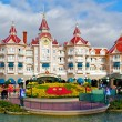 Постер, плакат: Panoramic view of a Disney castle