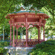 Summer pavilion in the wood — Stock Photo