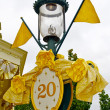 Royalty-Free Stock Photo: Lamp post with the sign of 20th anniversary