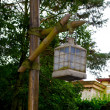 Lamp post in the Frontierland - Stock Photo