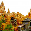 Stock Photo: Disneyland mountain decoration