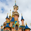 View of the Sleeping beauty palace in the Disneyland of Paris - Stock Photo