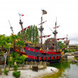 Peter Pan's pirate ship — Stock Photo