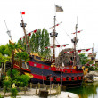 Peter Pan's pirate ship — 图库照片