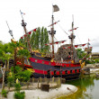 Peter Pan's pirate ship — Stockfoto
