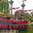 Капитан Крюк в пиратский корабль — Стоковое фото