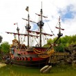 Captain Hook\'s pirate ship — Stock fotografie