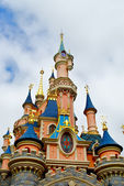 View of the Sleeping beauty palace in the Disneyland of Paris — Stock Photo