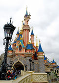 Part of the Sleeping beauty castle in the Disneyland of Paris — Stock Photo