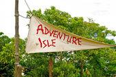 Advanture isle işareti — Stok fotoğraf