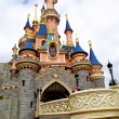 Bridge to the Sleeping beauty palace in the Disneyland of Paris - Stock Photo