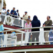 On the deck of Molly Brown ship in the Disneyland - Stok fotoğraf