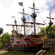 Captain Hook's pirate ship — Stockfoto