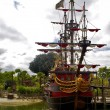 Captain Hook's pirate ship — 图库照片