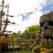 Captain Hook's pirate ship — Stock fotografie