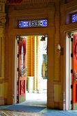 Open door of the hall — Stock Photo