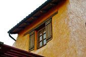 Open window of the wild west stylish house — Stock Photo