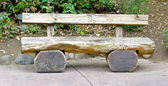 Wooden bench — Stock Photo