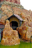 Russian mountains in the Disneyland — Stock Photo
