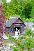 Toeristen in het disneyland — Stockfoto