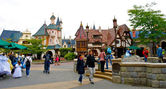 Disneyland village — Stock Photo